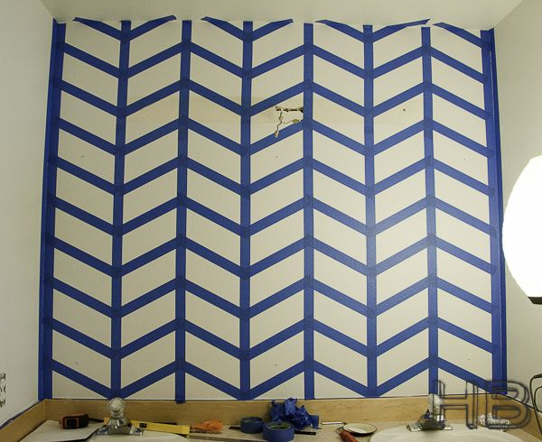 How to paint a chevron herringbone pattern quotpopular pins for Chevron template for painting