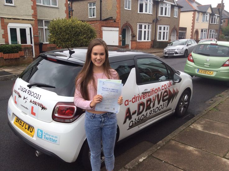 """1ST TIME PASS, 1ST TIME PASS, 1ST TIME PASS!!!!!!!  Another huge congratulations to Katie Tombs of NSG who passed her practical driving test 1st time 26/8/14 at Northampton DTC with Andrew Batty of A-Drive.   Katie said """" Thanks Andrew for all your help and teaching me to drive and pass my test 1st time. I will definitely recommend you and A-Drive"""""""