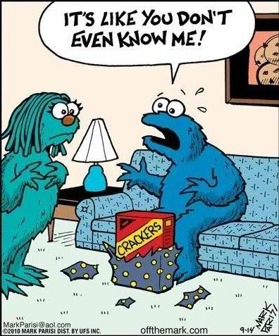 Crackers.Cookie Monster, Cookies Monsters, Laugh, Comics Book, Funny Stuff, Humor, Poor Cookies, Funnystuff