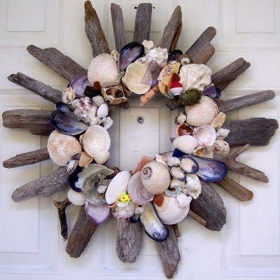 Shell Wreaths Handmade from Beach Finds