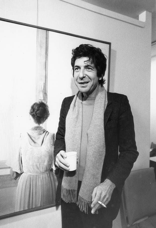 Leonard Cohen with cigarette in one hand and cup in another on Feb. 29, 1980. (Jack Dobson/The Globe and Mail)