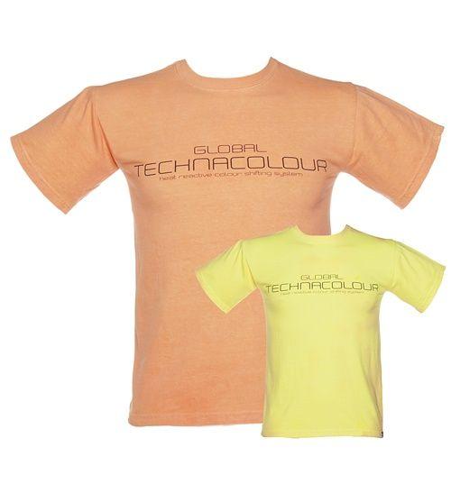 Unisex Orange To Yellow Heat Sensitive T-Shirt