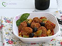 Polpette con zucchine e olive