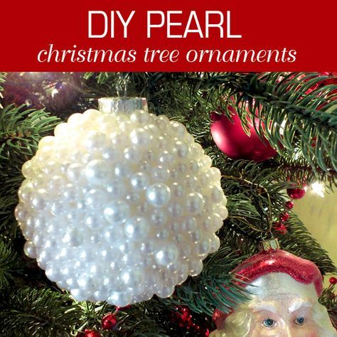 These DIY Pearl Christmas Ornaments are a fun craft that results in a beautifully unique Christmas decoration that you can make for yourself or as a gift.