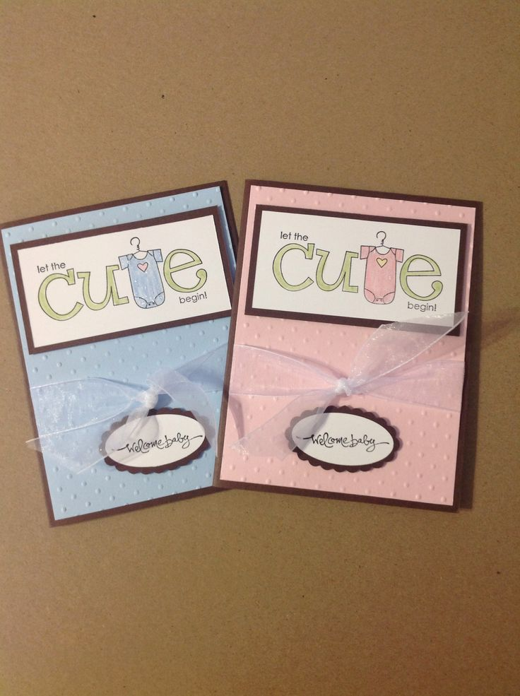 Baby cards Stampin Up