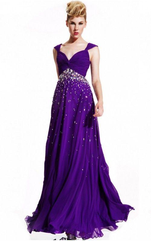 New Arrivals Shoulder Straps A-line Floor-length Prom Dresses
