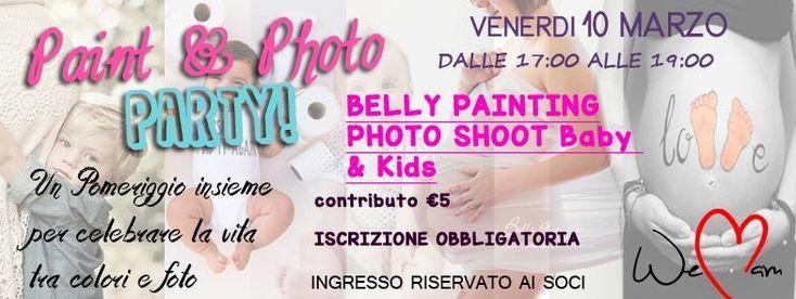 Venerdi 10 Marzo dalle 17:00 alle 19:00: Un pomeriggio insieme all'Associazione WeMam di Bologna per celebrare la vita tra colori e foto!