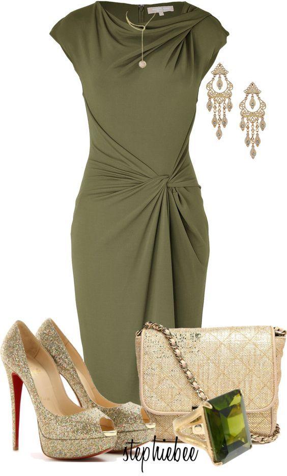 Kleid grun kombinieren