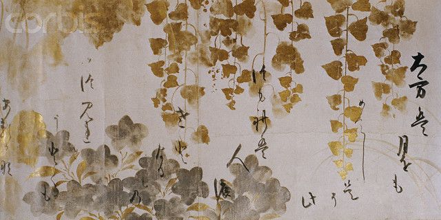 Detail of a Handscroll of Poems by Tawaraya Sotatsu and Honami Koetsu