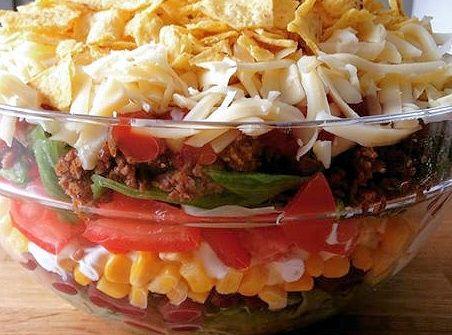 Mexikanischer Schichtsalat by HotTomBBQ on www.rezeptwelt.de