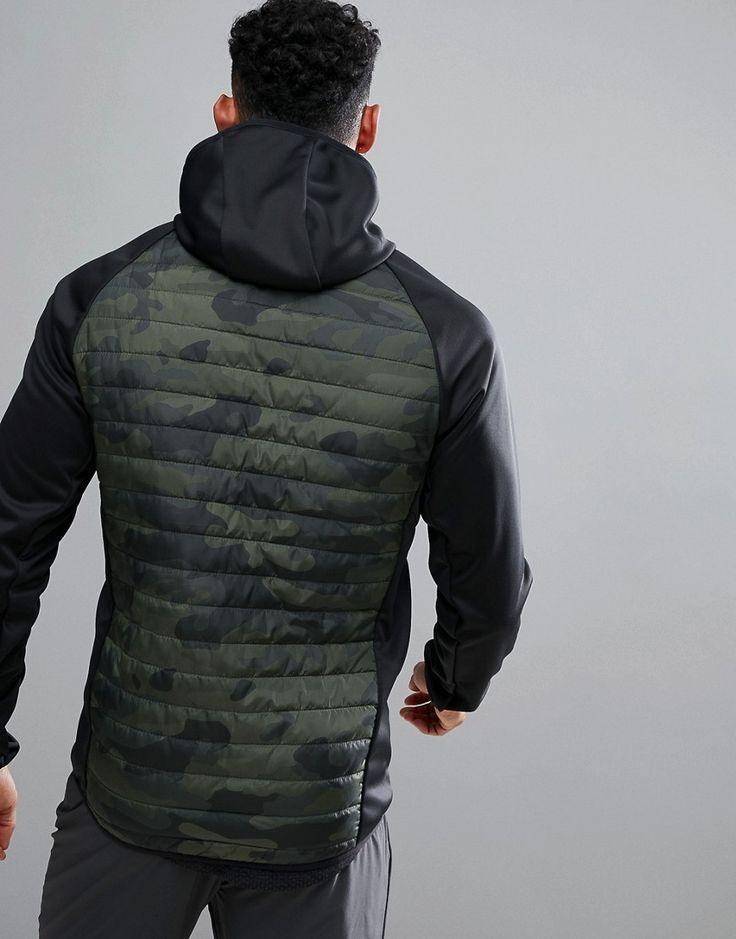 Jack & Jones Tech Multi Quilt Camo Jacket - Green