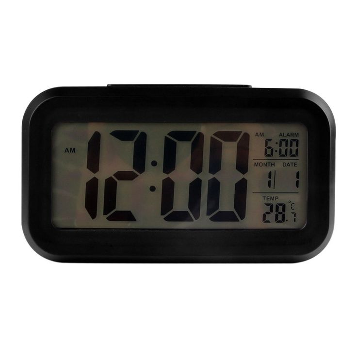Modern style Digital Light Sensor Snooze LED Desk Alarm Clock Interior Decoration Clock Backlight Thermometer Timer Calendar