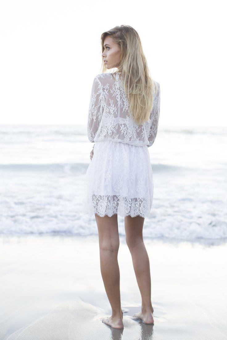 Isla Lace Dress - White PREORDER