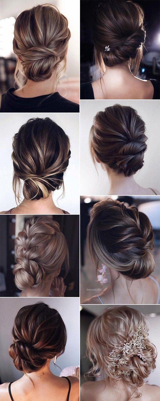 trending low bun updo wedding hairstyles trending low bun