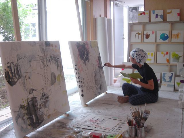 Preparing for the upcoming show - Mayako Nakamura, via Flickr.