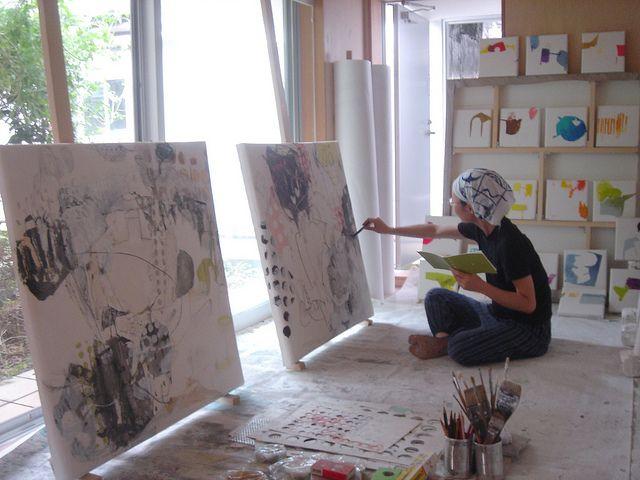 Preparing for the upcoming show - Mayako Nakamura, via Flickr.