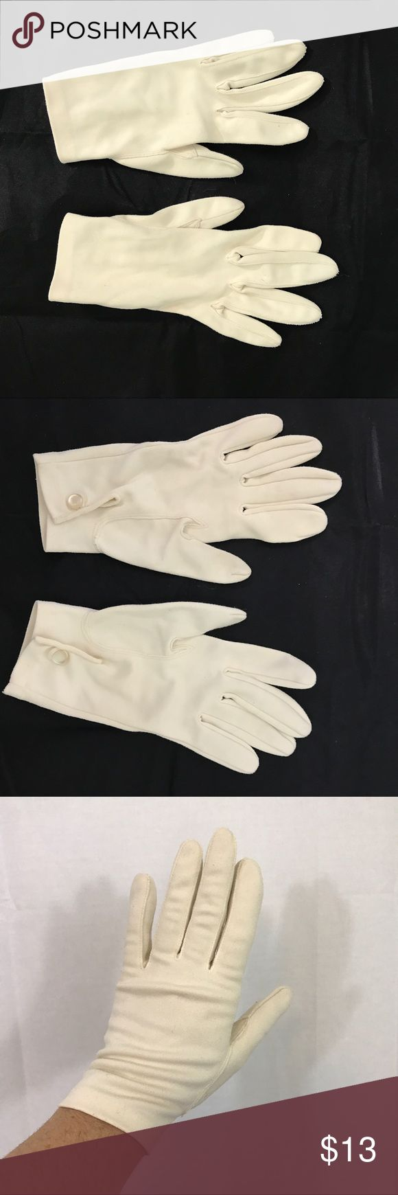 Driving gloves youtube - Vintage Ivory Wrist Driving Gloves 6 1 2