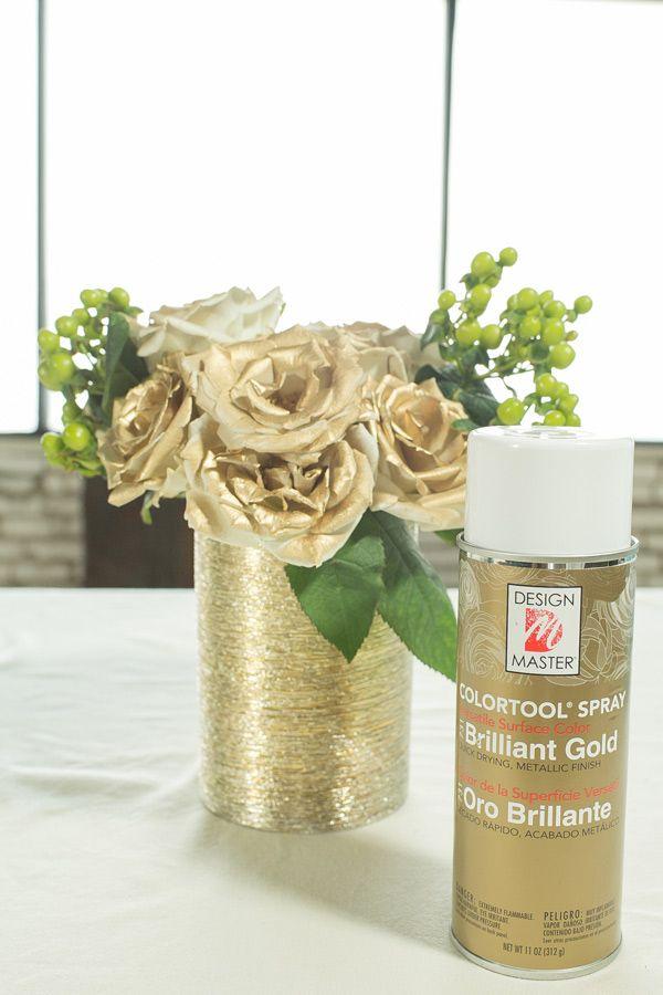 Spray Painting Flowers DIY /Easy DIY / Easy Home Decor / Gold Flowers / DIY / Centerpiece Ideas / Easy Entertaining
