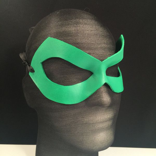 Green Lantern Mask Kelly Matte Superhero mask Poison Ivy Cosplay... ($24) ❤ liked on Polyvore featuring costumes, super hero halloween costumes, justice league halloween costumes, superhero halloween costumes, green lantern costume and superhero cosplay costumes