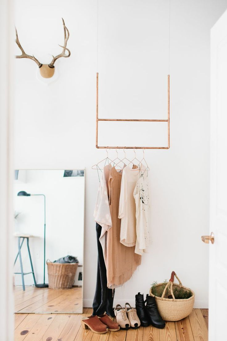1000 ideas about hanging clothes racks on pinterest hanging clothes pipe clothes rack and. Black Bedroom Furniture Sets. Home Design Ideas