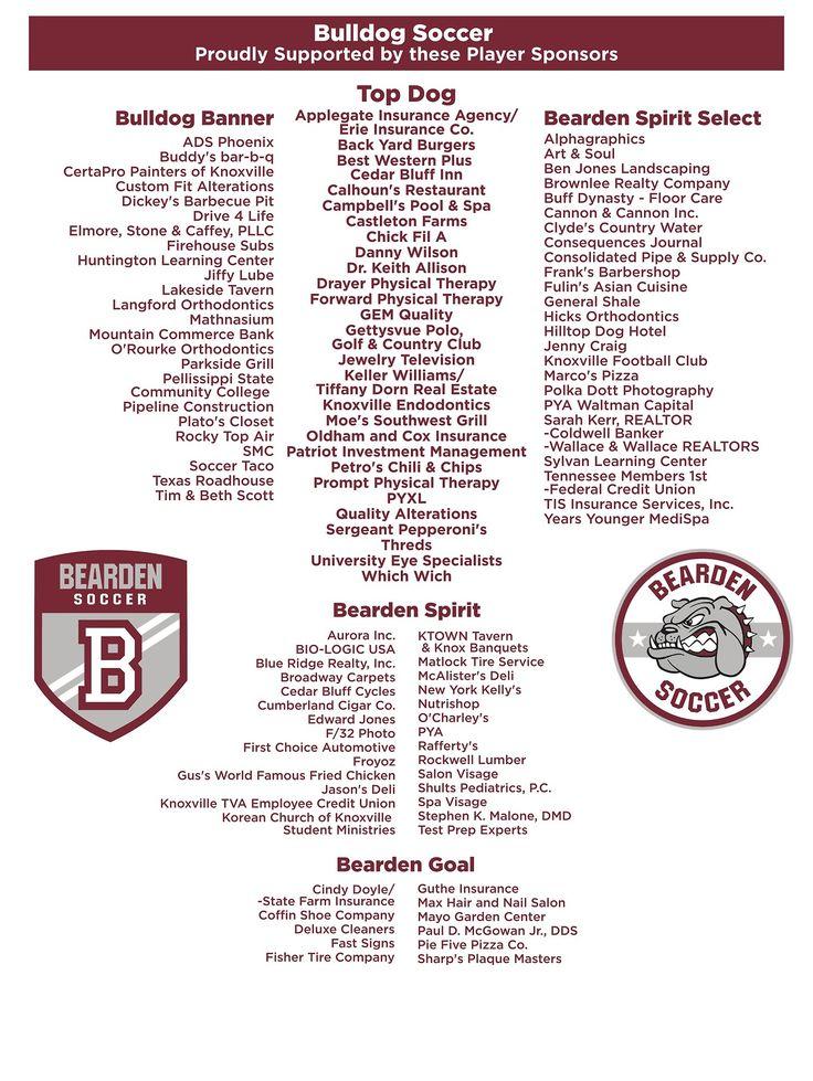 Bearden HS Soccer Photo Erie insurance, Calhoun