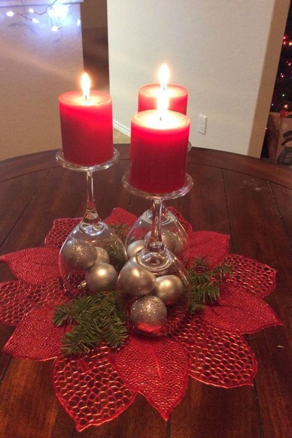26 Awesome Christmas Candles Decoration Ideas Diy Christmas Table Christmas Candle Decorations Christmas Table Decorations Diy