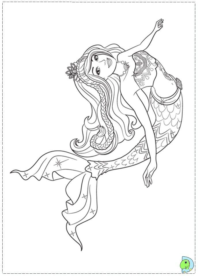 Realistic mermaid coloring pages download and print for free - new little mermaid swimming coloring pages
