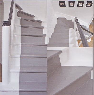 I love these stairs. Flügger färg. http://www.flugger.se/Inspiration/Temaer/Grafisk%20entre/Trappe.aspx