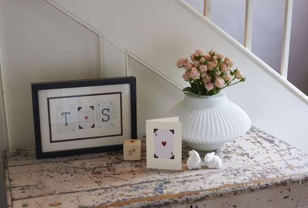 Valentine small frame - the initials can be personalised to suit any couple