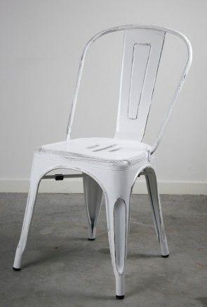 Replica Xavier Pauchard Tolix Vintage White Dining Chair