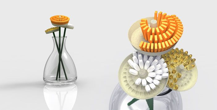 Vita Flower. Designed by Kuen Chang and Pam Daniels.