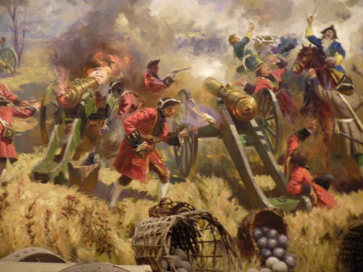 The Battle of Poltava on 27 June 1709  was the decisive victory of Peter I of Russia over the Swedish forces under Field Marshal Carl Gustav Rehnskiöld, in one of the battles of the Great Northern War.  It is widely believed to have been the beginning of Sweden's decline as a Great Power, as the tsardom of Russia took their place as the leading nation of north-eastern Europe.