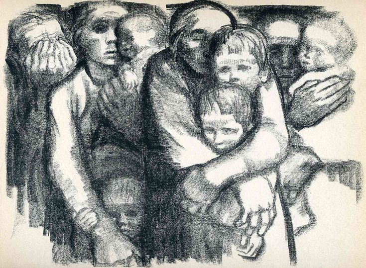 'The Mothers', 1919 - Kathe Kollwitz