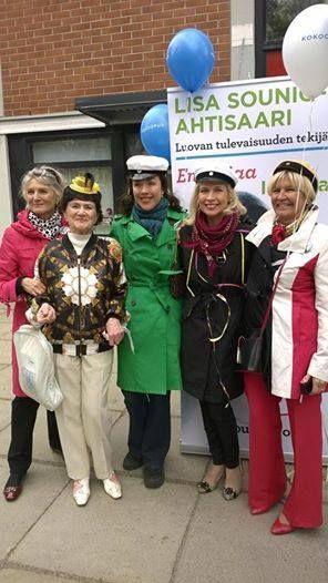Lisa Sounio-Ahtisaari Olarin Kokoomuksen vappuna #kokoomus