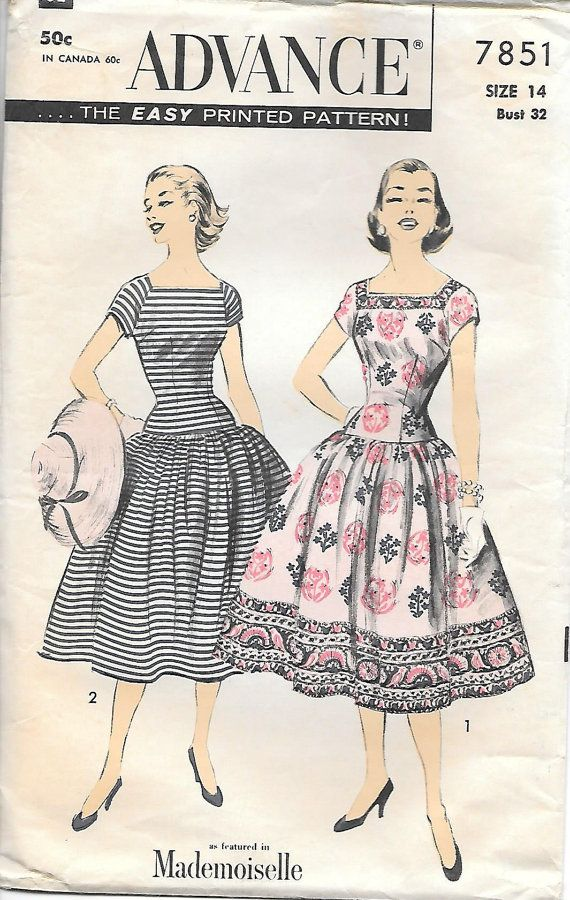 7851 vintage number simplicity 1968 pattern