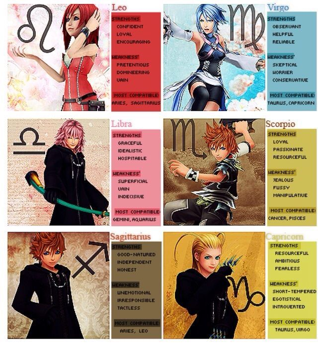 , These pictures are Kingdom Hearts related, and, I'd like to see who has what on each ...
