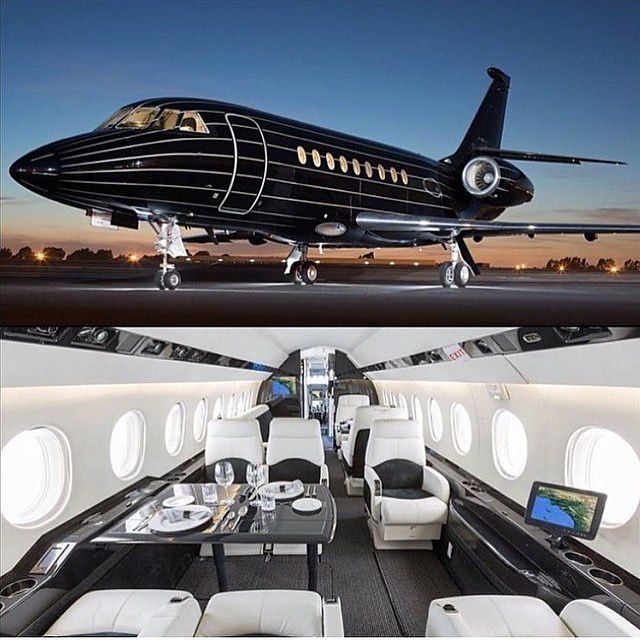 Black private jet Tag a friend you'd take on this .