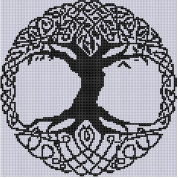 Celtic Tree Cross Stitch Pattern by MotherBeeDesigns on Etsy, $0.99