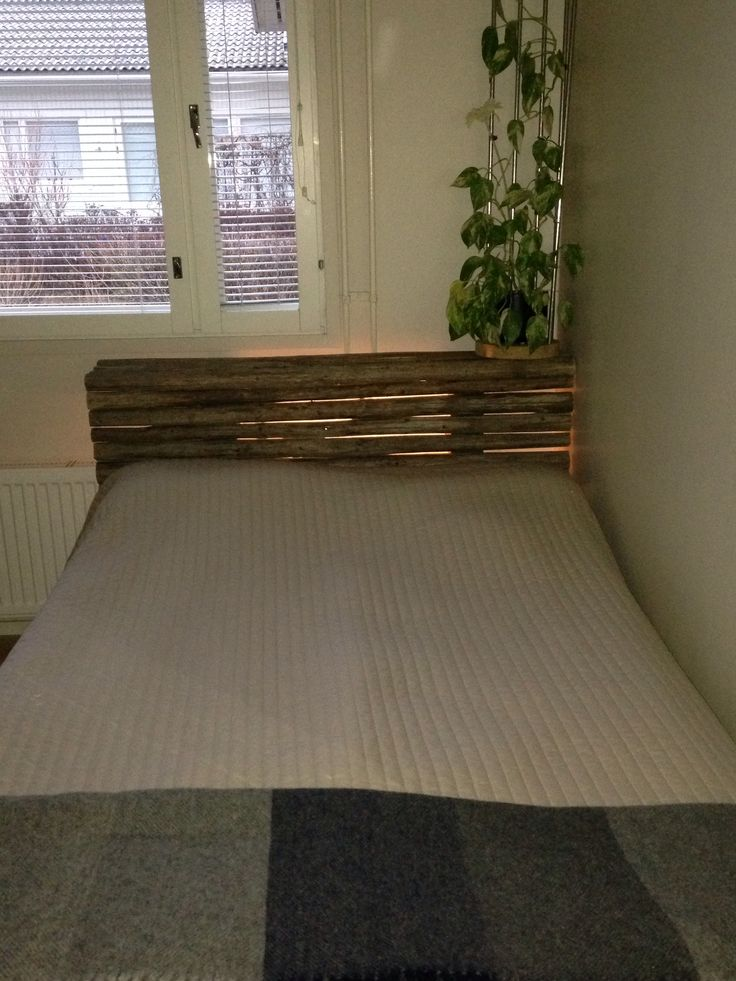 DIY Hay pole night stand / bed end