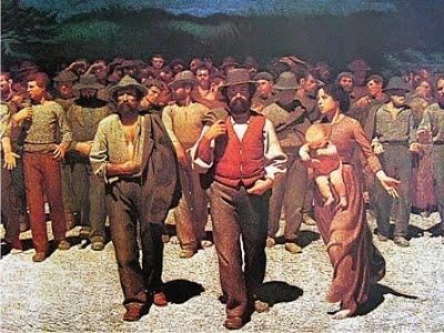 Il Quarto stato: Il cammino dei lavoratori. (El cuarto poder - los trabajadores en el camino) - 1901. Giusseppe Pelliza da Volpedo (1868-1907)