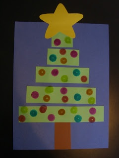 Christmas Tree craft from First Grade Garden