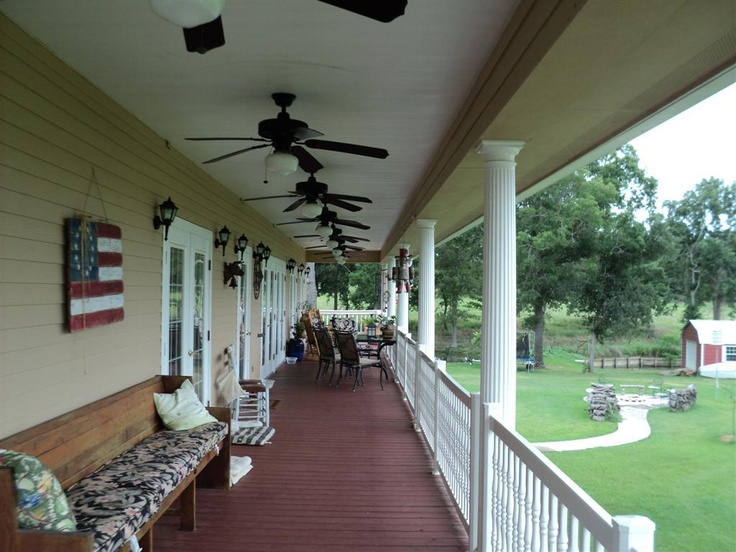 Long Front Porch Southern Style My Dream House