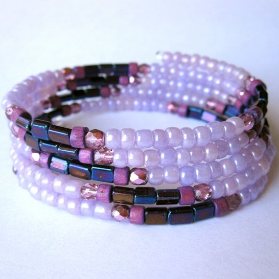 Memory Wire Bracelet  Wrap Bracelet  Purple by PaganucciDesigns, $18.00