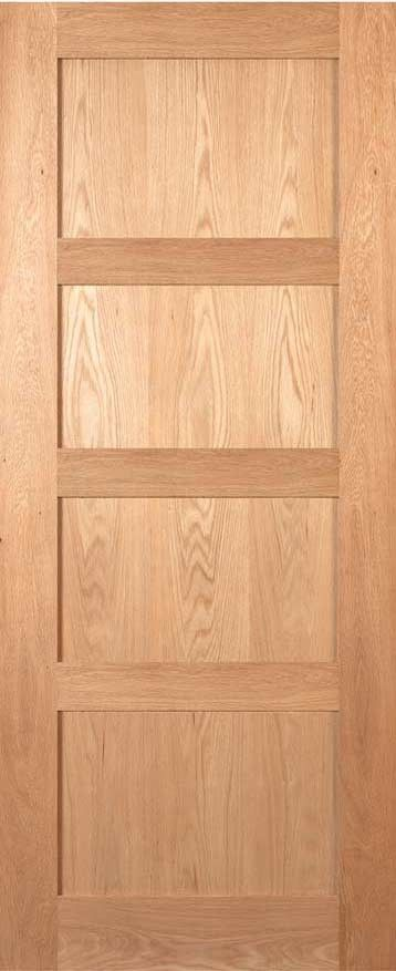 Coventry Four Panel Shaker Style Oak Door