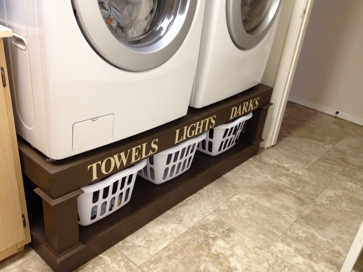 homemade washer and dryer stand | Washer and Dryer Pedestal | Do It Yourself Home Projects from Ana ...