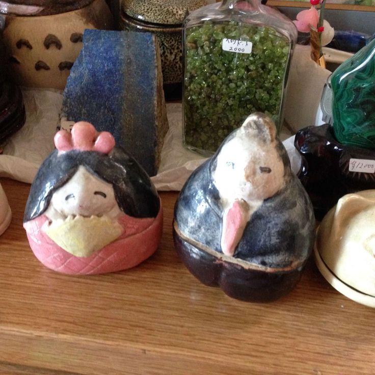 陶芸で 手びねりお雛様