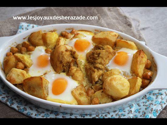 kbab recette algerienne de poulet aux pommes de terre