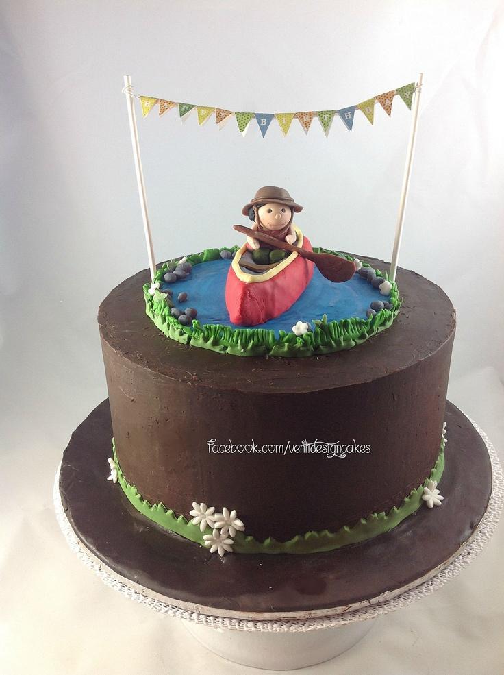 Canoe Birthday Cake Facebook Com Ventidesigncake