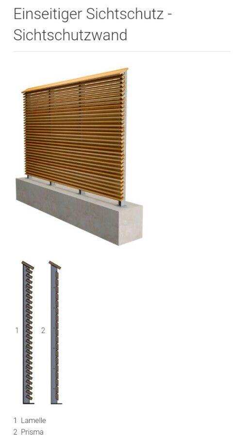 Sichtschutz Holz/Metall