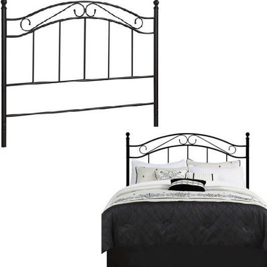 Queen Full Size Iron Bed Headboard Metal Adapter Plates Vintage